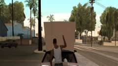 Open the hood or trunk hands for GTA San Andreas