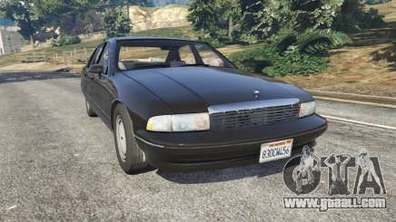 Chevrolet Caprice 1991 v1.2 for GTA 5