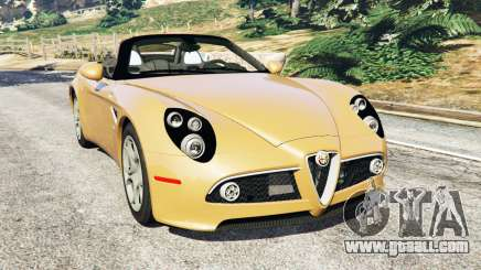 Alfa Romeo 8C Spider 2012 for GTA 5