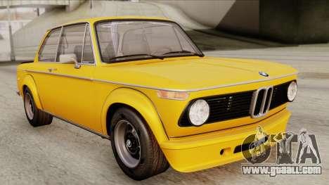 BMW 2002 Turbo 1973 Stock for GTA San Andreas