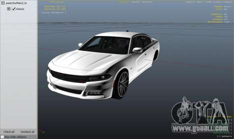 GTA 5 2015 Dodge Charger RT 1.4 right side view