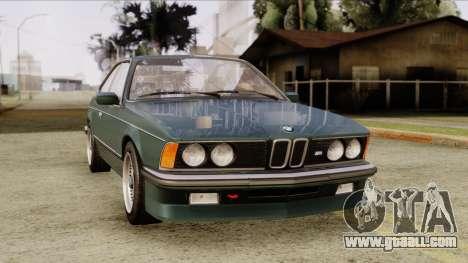 BMW M635 E24 CSi 1984 Stock for GTA San Andreas right view