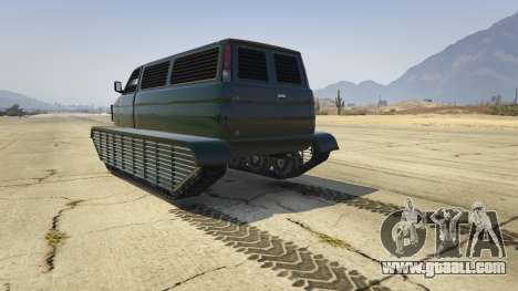 GTA 5 Police Transporter Tracked rear left side view