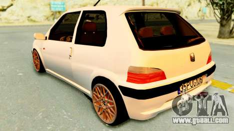 Peugeot 106 Pug for GTA San Andreas back left view