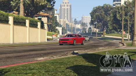 GTA 5 2015 Dodge Charger RT 1.4 back view