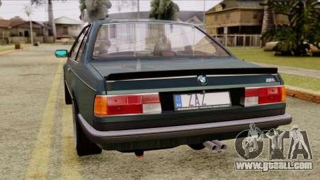 BMW M635 E24 CSi 1984 Stock for GTA San Andreas left view