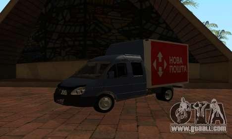 GAZelle 33023 Nova Poshta for GTA San Andreas