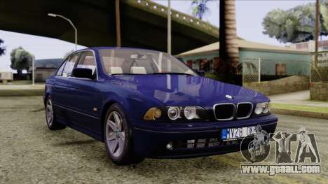 BMW 530D E39 2001 Stock for GTA San Andreas