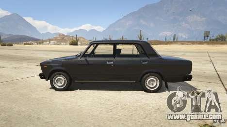 VAZ-2107 Lada Riva v1.2 for GTA 5