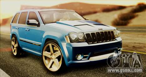 Jeep Grand Cherokee SRT8 Final version for GTA San Andreas left view