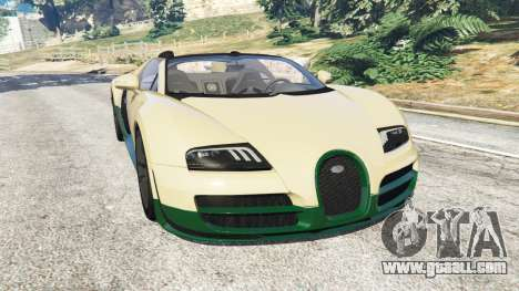Bugatti Veyron Grand Sport Vitesse for GTA 5