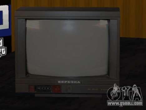 TV birch 37ТЦ-5141Д for GTA San Andreas second screenshot