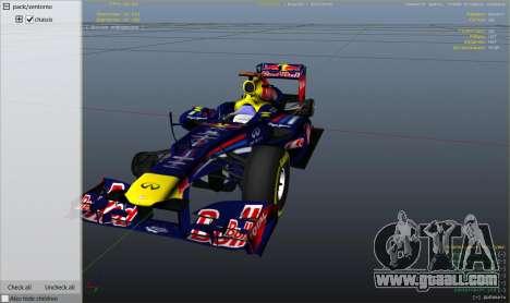 GTA 5 Red Bull F1 v2 redux wheel