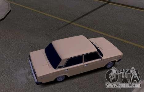 VAZ 2107 KBR for GTA San Andreas inner view