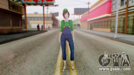 Fatal Frame 4 Misaki Luigi Clothes for GTA San Andreas second screenshot