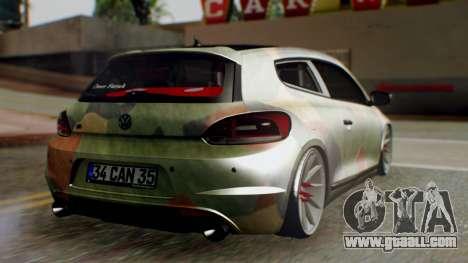 Volkswagen Scirocco R Army Edition for GTA San Andreas left view