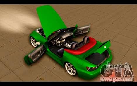 Honda S2000 for GTA San Andreas upper view