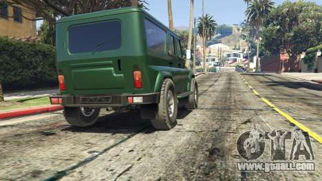 GTA 5 УАЗ 3159 Porpoising rear right side view