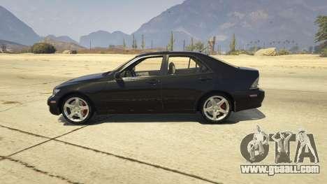 GTA 5 Lexus IS300 Tunable 1.0 left side view