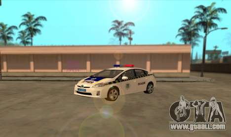 Toyota Prius Police Of Ukraine for GTA San Andreas left view