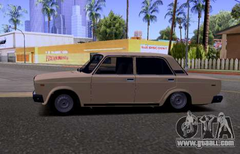 VAZ 2107 KBR for GTA San Andreas back view