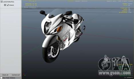 GTA 5 Suzuki GSX1300R Hayabusa right side view