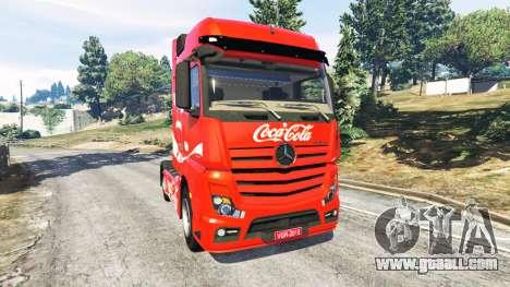 Mercedes-Benz Actros Euro 6 [Coca-Cola] for GTA 5