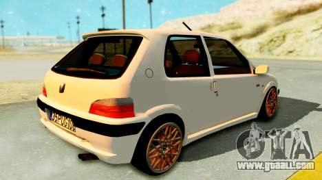 Peugeot 106 Pug for GTA San Andreas left view