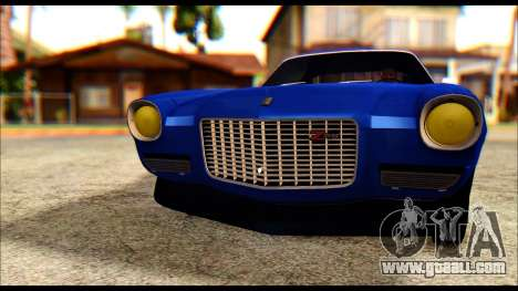 Chevrolet Camaro Z28 1970 Tunable for GTA San Andreas inner view
