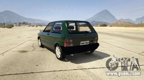 GTA 5 Fiat Uno 1995 rear left side view