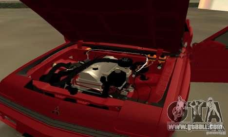 Mitsubishi Starion ECI-R for GTA San Andreas back view