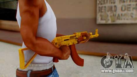 GTA 5 Assault Rifle Luxury Camo for GTA San Andreas third screenshot