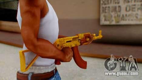 GTA 5 Assault Rifle Luxury Camo for GTA San Andreas third screenshot