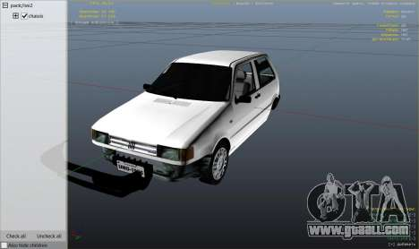 GTA 5 Fiat Uno 1995 right side view