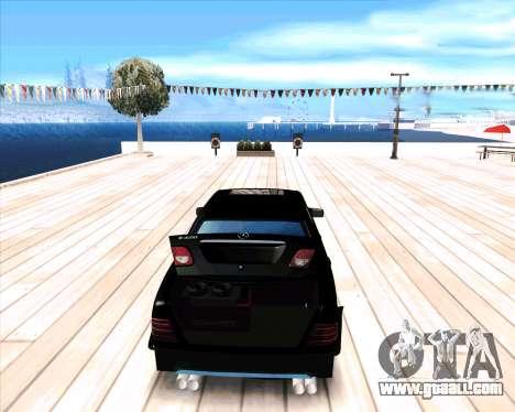 Mercedes Benz E-Class for GTA San Andreas right view