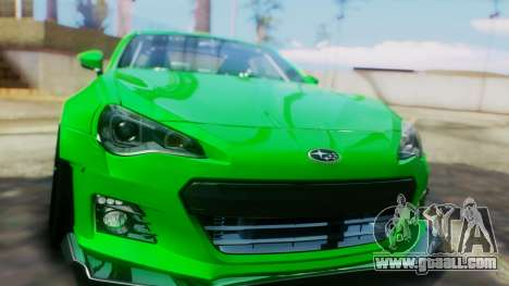 Subaru BRZ 2013 Rocket Bunny for GTA San Andreas inner view