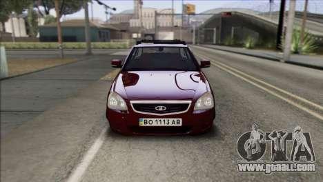 Lada Priora Ukrainian Stance for GTA San Andreas right view