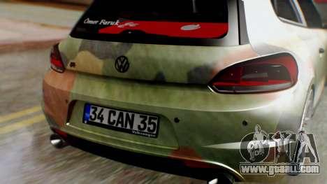 Volkswagen Scirocco R Army Edition for GTA San Andreas back view