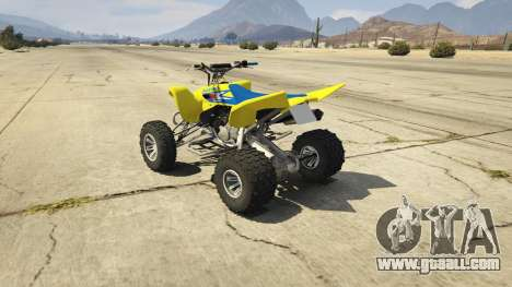 GTA 5 2009 Suzuki LTR 450 rear left side view
