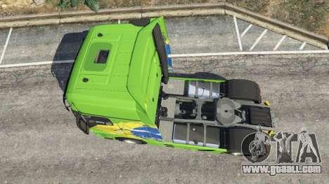 GTA 5 Mercedes-Benz Actros Euro 6 [Brasil] back view