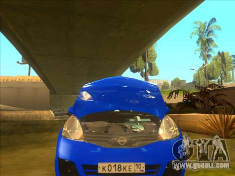 Nissan Note v0.5 Beta for GTA San Andreas side view