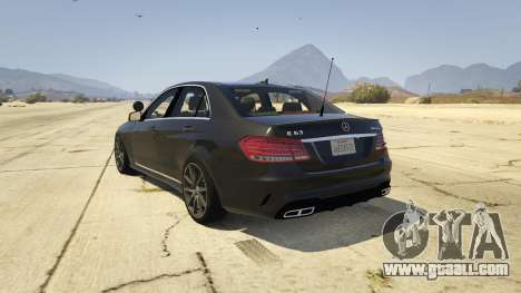 GTA 5 Mercedes-Benz E63 AMG Unmarked Cruiser rear left side view