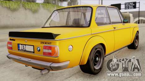 BMW 2002 Turbo 1973 Stock for GTA San Andreas left view
