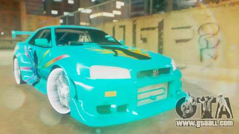 Nissan Skyline GT-R R34 Cyan Edition 2001 for GTA San Andreas
