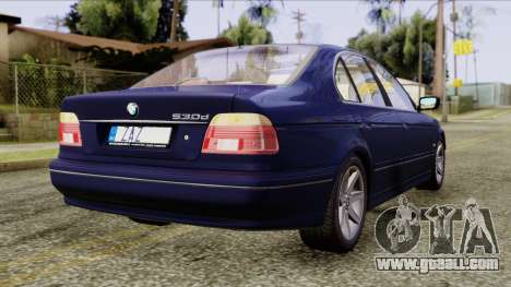 BMW 530D E39 2001 Stock for GTA San Andreas left view