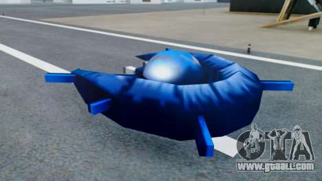Alien Ship Dark Blue for GTA San Andreas back left view