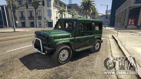 GTA 5 УАЗ 3159 Porpoising front right side view