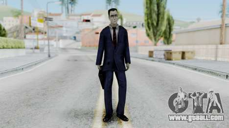 GMAN v1 from Half Life for GTA San Andreas second screenshot