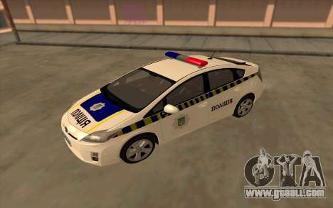 Toyota Prius Police Of Ukraine for GTA San Andreas right view