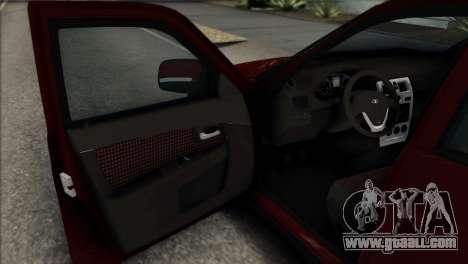 Lada Priora Ukrainian Stance for GTA San Andreas back view